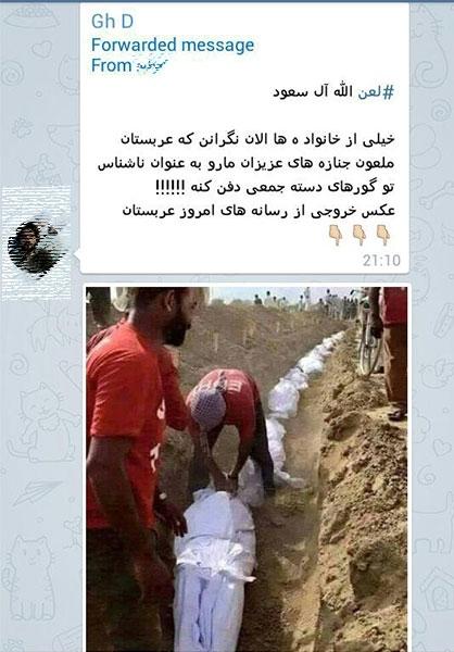 دفن دستهجمعی زائران صحت دارد؟+عکس
