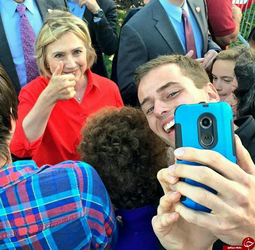 عکس/ سلفی کلینتون با هموطنانش
