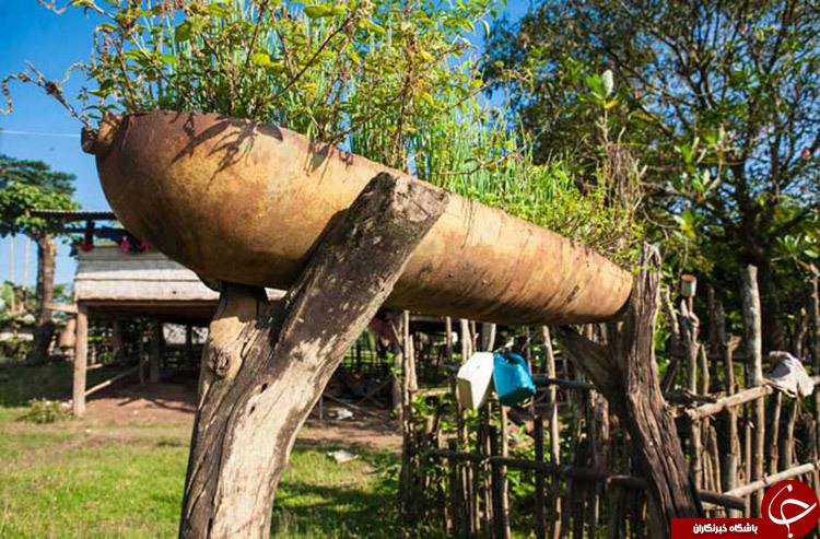 روستایی ساخته شده از بمب +تصاویر