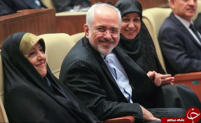 ظریف و همسرش مهمان ابتکار +عکس