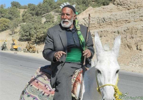 عزاداری خاص پیرمرد 75 ساله +تصاویر