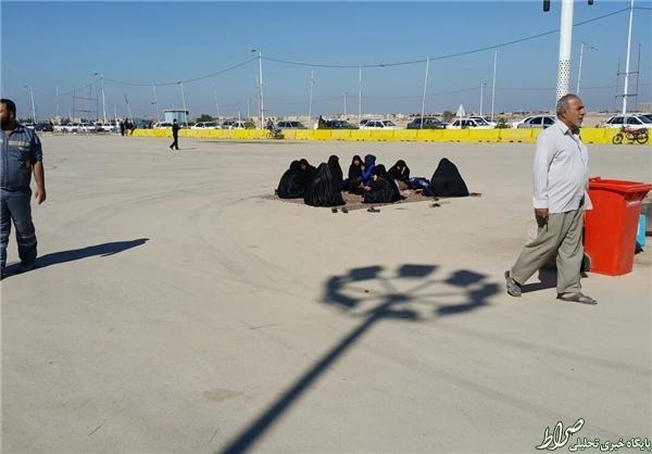 سردرگمی زائران اربعین در منطقه آزاد اروند +تصاویر