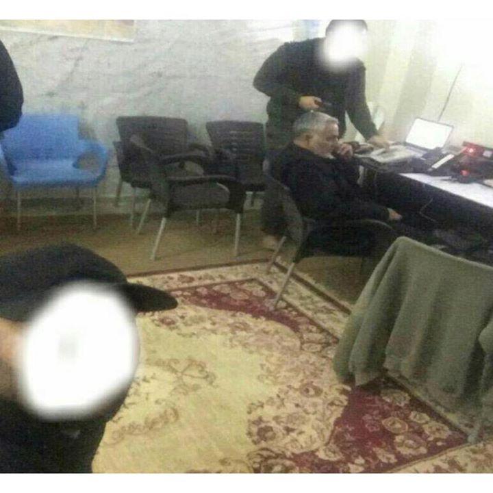 عکس/ اتاق کار سردارسلیمانی در سوریه