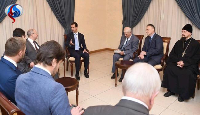 هدیهمتفاوت حزبروسی به اسد+عکس