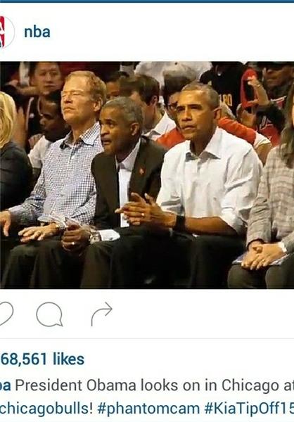 اوباما تماشاگر بازی پادشاه+عکس