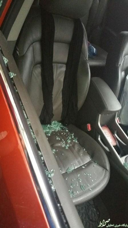 حمله موتورسواران به ماشین حامدزمانی +عکس