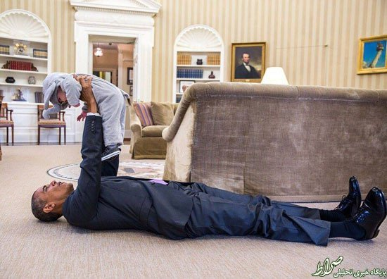 عکس/ درازکش اوباما در کاخ سفید