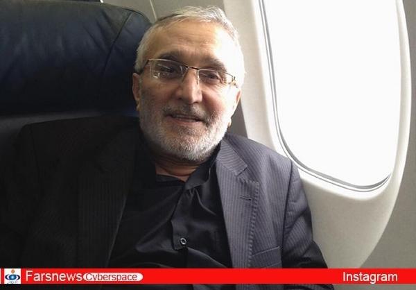 حاج منصور ارضی راهی کربلا شد+عکس