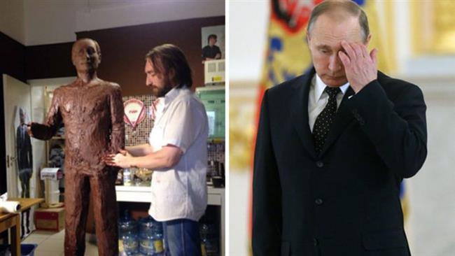پوتین هم شکلاتی شد! +تصاویر