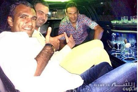 عکس/آقای فوتبالیست در اتومبیل گرانقیمتش