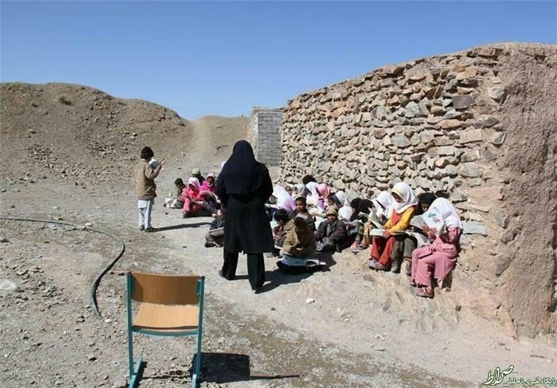 عکس/ یک مدرسه روستایی عجیب در ایران