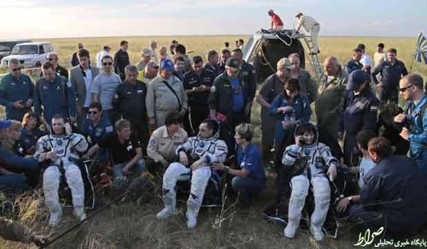 بازگشت ۳ فضانورد ناسا به زمین +عکس