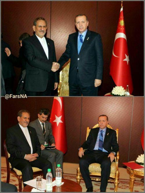 بیحرمتی گستاخانه اردوغان در دیدار با جهانگیری: +عکس