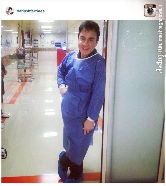 عکس/ عموپورنگ در بیمارستان