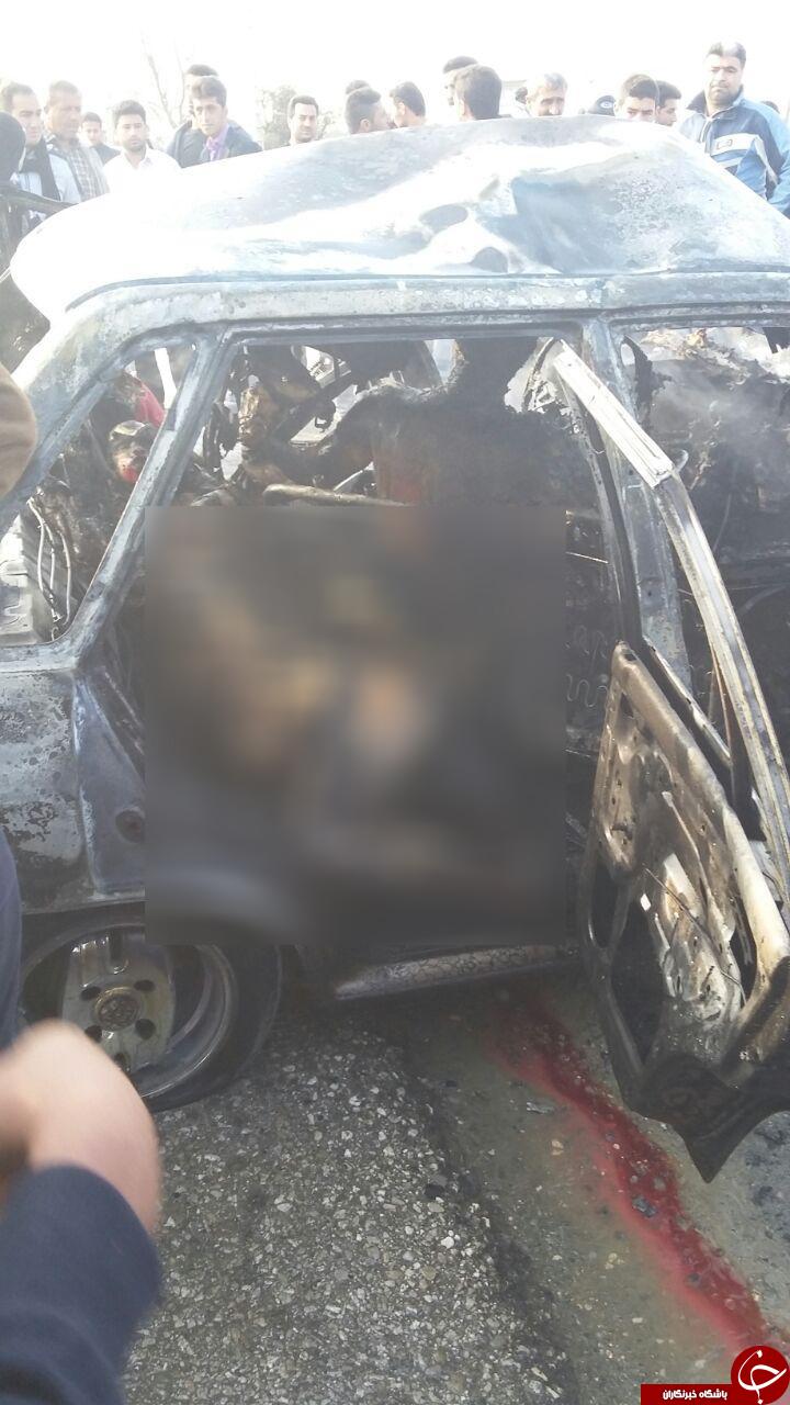 انفجار مرگبار پراید در مازندران +تصاویر