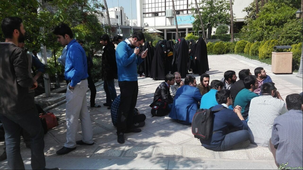 تجمع اعتراضی دانشجویان دانشگاه تهران +تصاویر