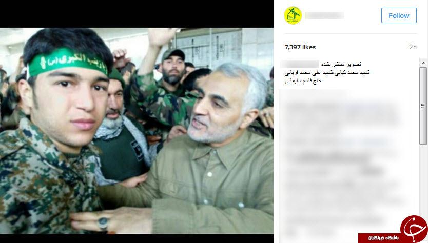سردارسلیمانی در کنار شهدای مدافعحرم اندیمشک +عکس