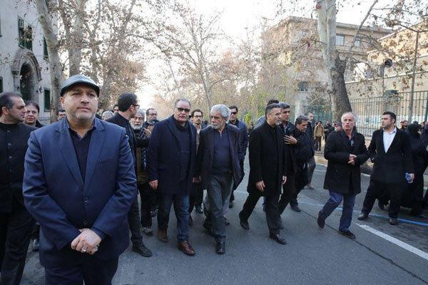 سینماگرانی که به مراسم تشییع هاشمی آمدند+تصاویر