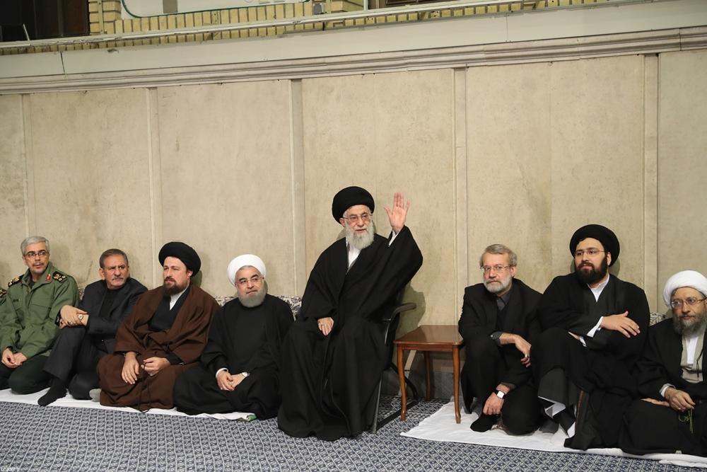مراسم ترحیم هاشمی در حسینیه امام(ره)