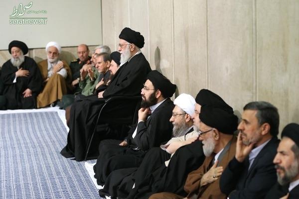 عکس/ احمدینژاد در مراسم ترحیم هاشمی