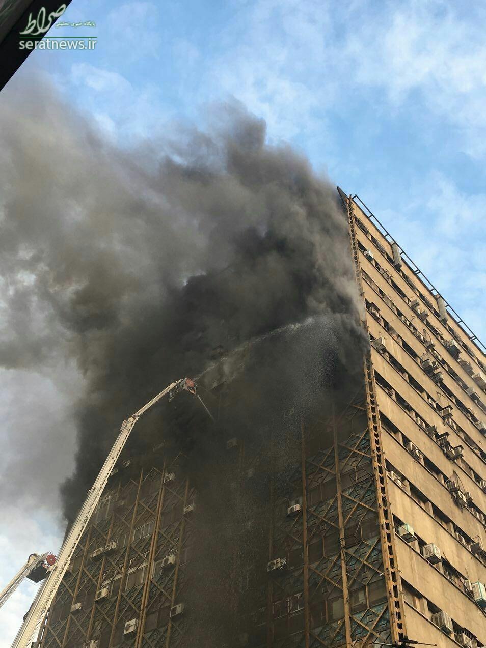 عکس/ آتش سوزی در ساختمان پلاسکو