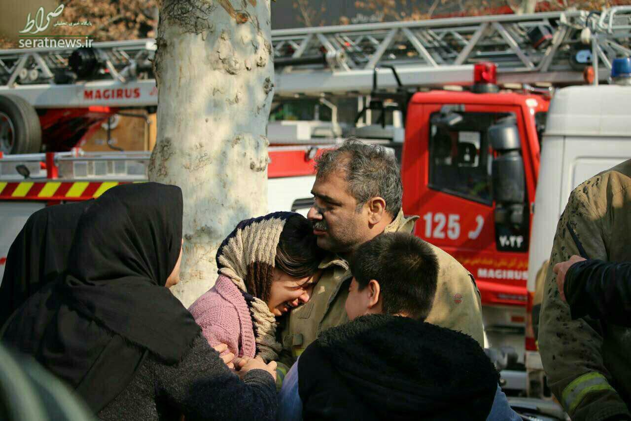 عکس/ گریه های دختر در آغوش پدر فداکارش