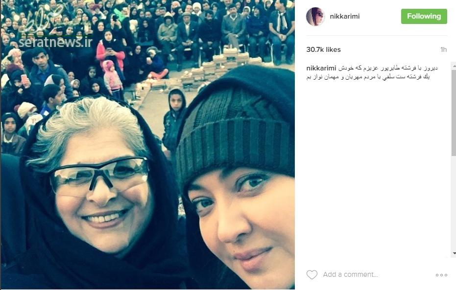 عکس/ سلفی نیکی کریمی با مردم بم
