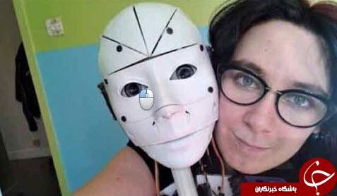 ازدواج یک زن با رباتش +عکس