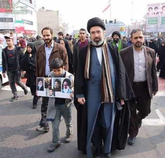 عکس/ حضور فرزند رهبر انقلاب در مراسم 22 بهمن