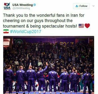 تشکر توییتری آمریکاییها از هواداران ایرانی