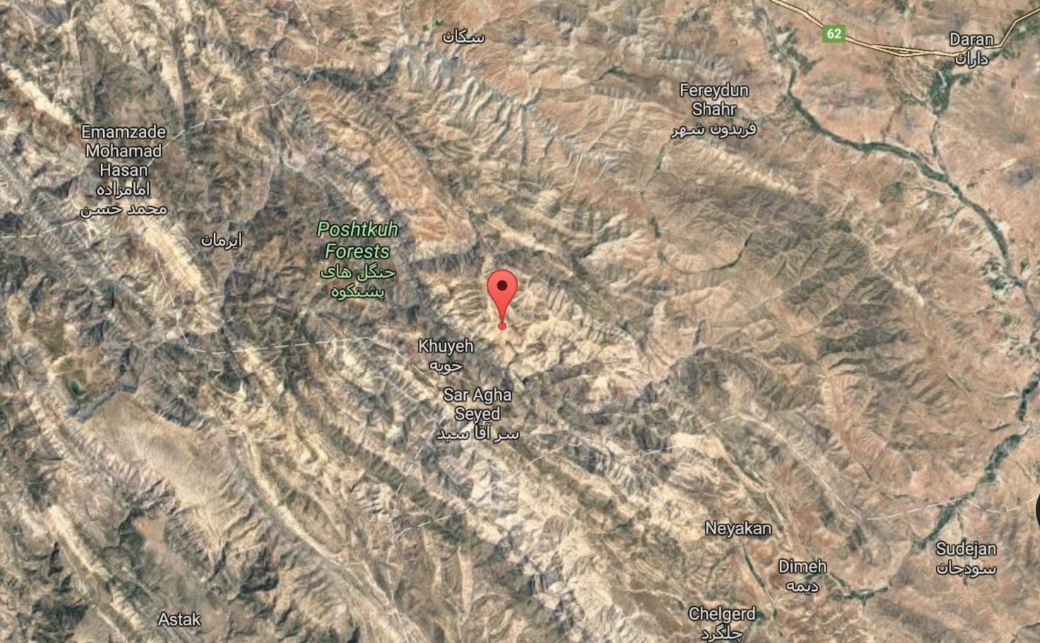 زلزله ۴.۵ ریشتر در فریدون شهر اصفهان