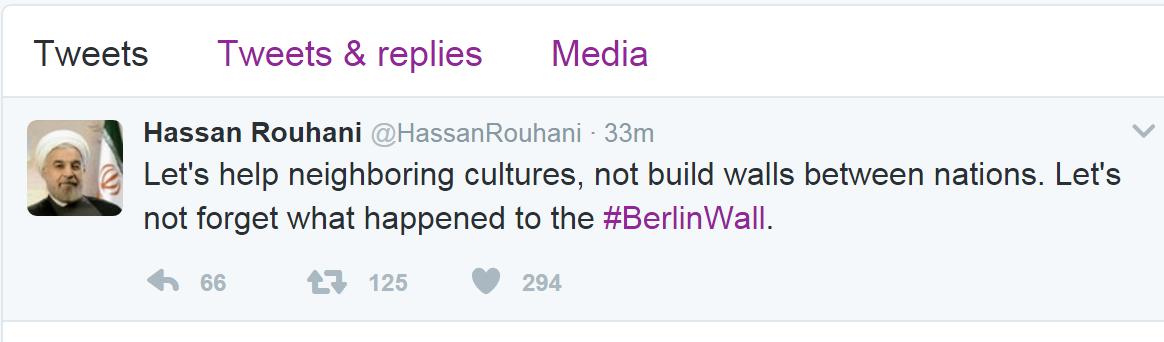 واکنش توئیتری روحانی به تصمیم بحث برانگیز ترامپ