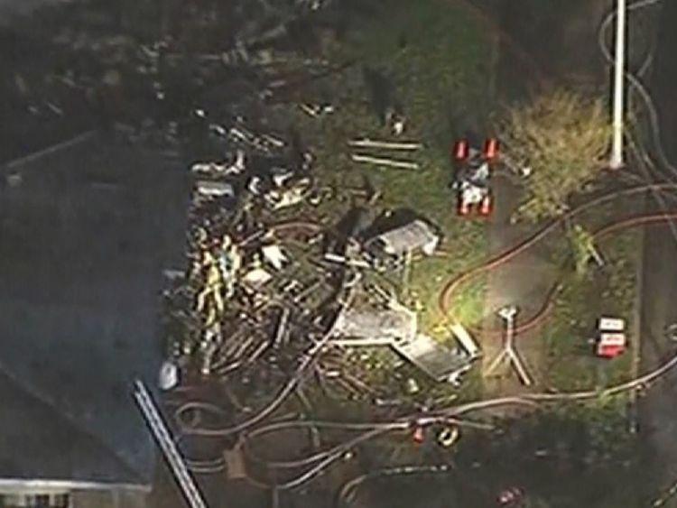 سقوط مرگبار هواپیما بر روی منازل کالیفرنیا +تصاویر