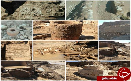 کشف یک قبرستان در سیلاب شیراز +عکس