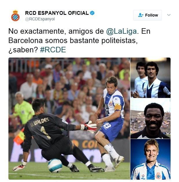 توئیتی که بر دشمنی اسپانیول و بارسلونا دامن زد! + تصاویر