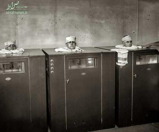 عکس/ دستگاه فیزیوتراپی در سال ۱۹۲۰ میلادی