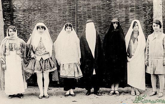 عکس/ پوشش زنان از دوره قاجار تا پهلوی