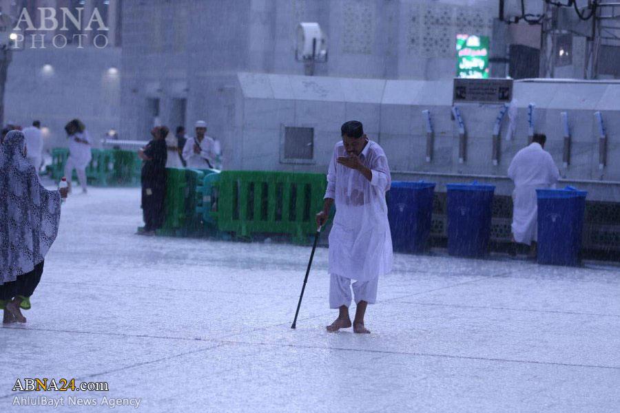 تصاویر/ بارش شدید باران در مکه