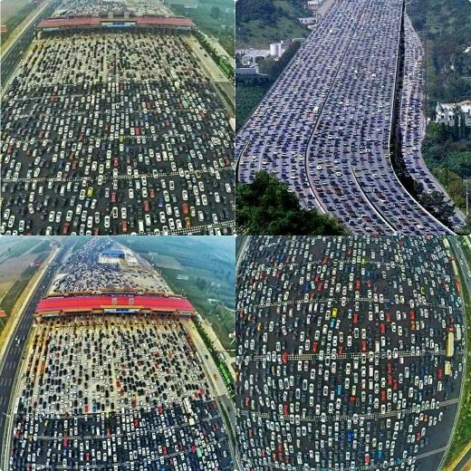 عکس/ طولانی ترین ترافیک جهان