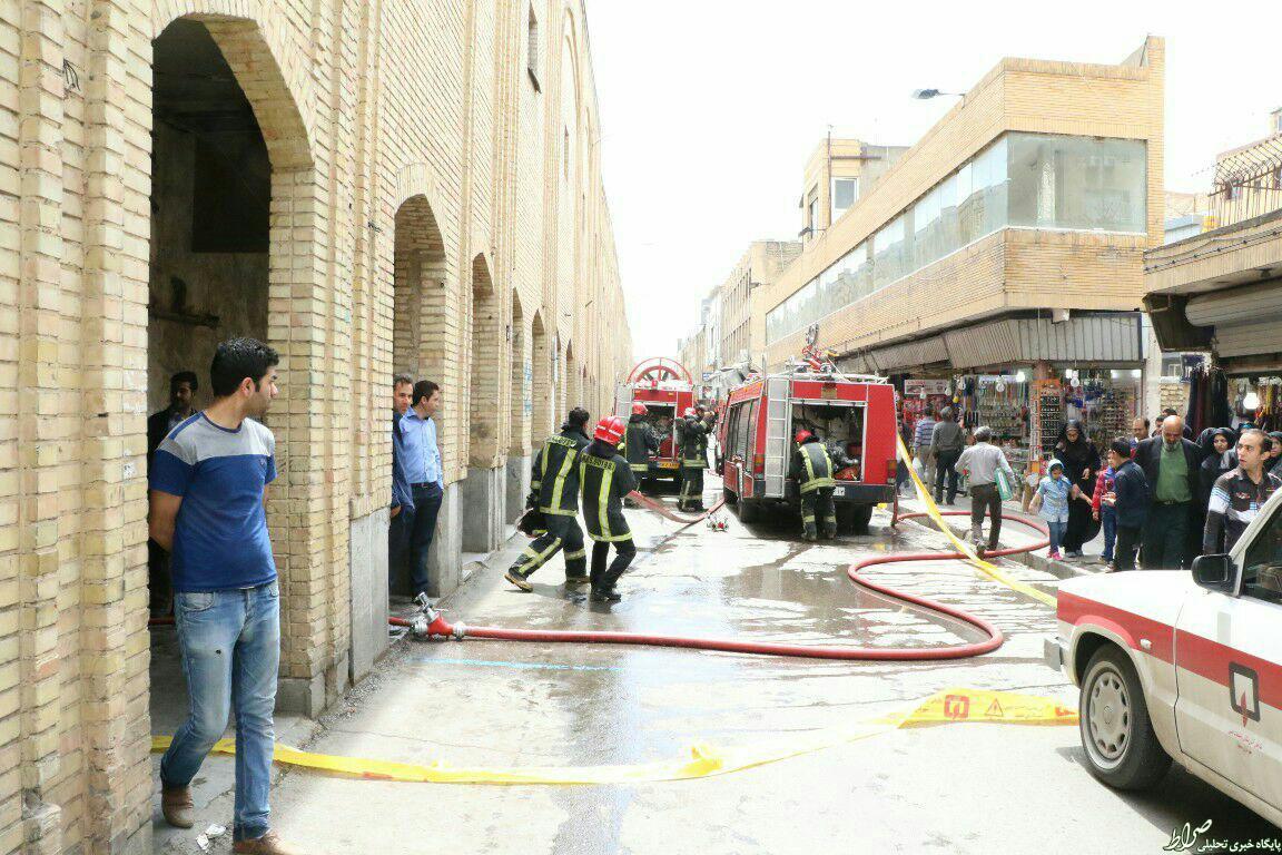 حریق در بازار امام رضا مشهد+تصویر