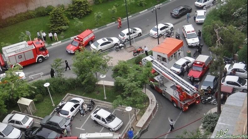 حادثه برای پارکینگ طبقاتی در تهران +عکس