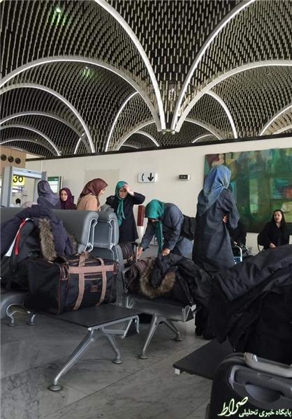 حضور منافقین در فرودگاه بغداد +عکس