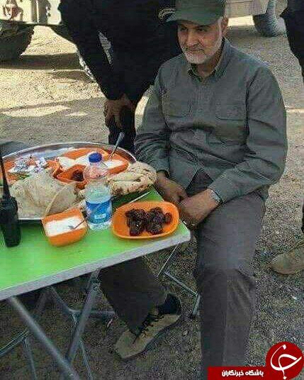 عکس/ غذای ویژه برای سردار سلیمانی