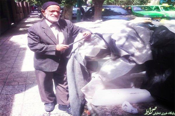 شغل عجیب پیرمرد تهرانی +عکس