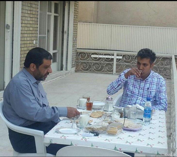 صبحانه خوران عادل فردوسی پور در دفتر ضرغامی+عکس