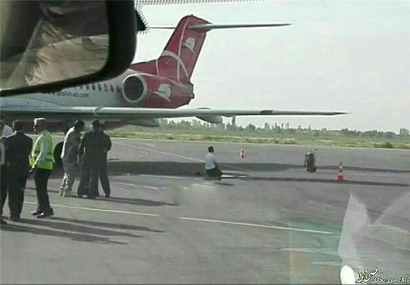 نمازشکر خلبان بعدازفرود خطرناک +عکس