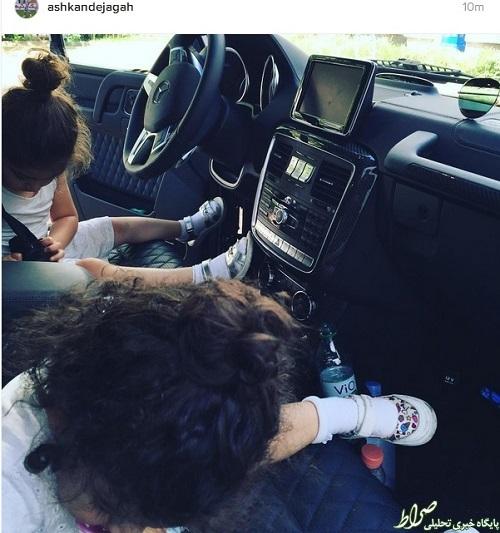عکس/ دختران دژاگه در خودروی لوکس پدر