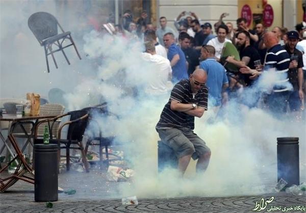 درگیری شدید هواداران در مارسی +عکس