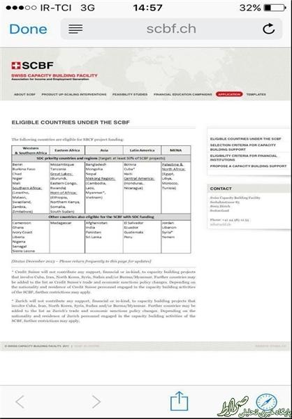 بانک سوئیسی به ایران: بعد از برجام هم با شما کار نمیکنیم +سند