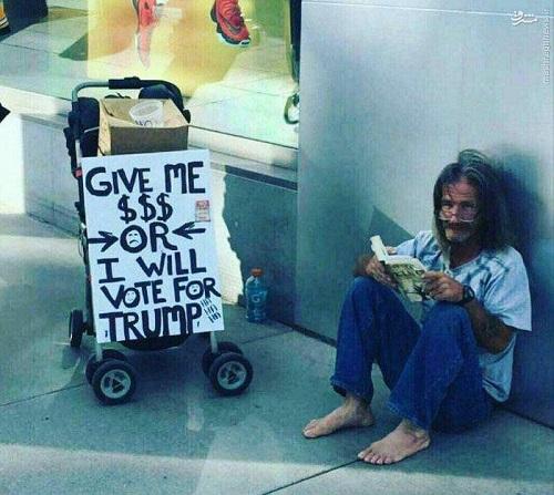 عکس/ شیوه جدید گدایی در آمریکا